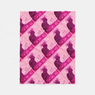 Cobertor De Velo Le Conversa D'Amour no rosa com palavras do amor