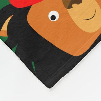 Cobertor De Velo Leão bonito dos desenhos animados de Zion