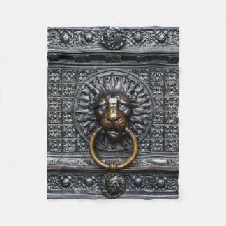 Cobertor De Velo Leão de Doorknocker - preto/ouro
