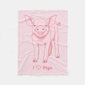 Cobertor De Velo Leitão cor-de-rosa bonito do bebê