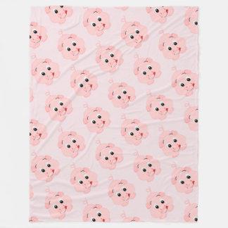 Cobertor De Velo Leitão cor-de-rosa pequeno bonito