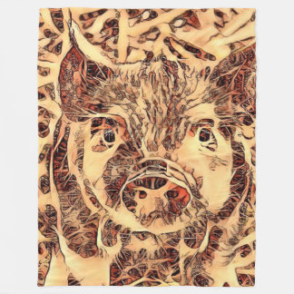 Cobertor De Velo Leitão surpreendente animal de ArtsStudio-