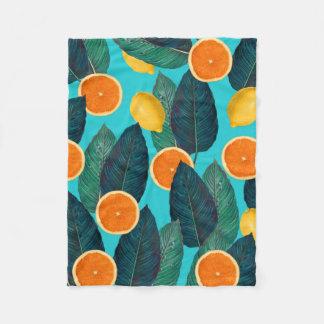 Cobertor De Velo limões e cerceta das laranjas