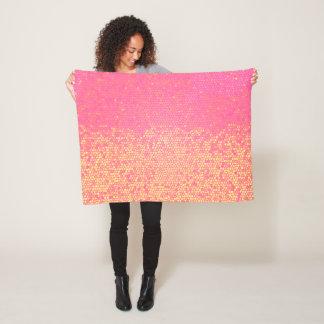 Cobertor De Velo Limonada cor-de-rosa do mosaico
