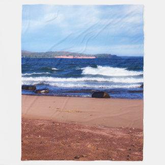Cobertor De Velo Linha costeira do Lago Superior