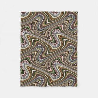 Cobertor De Velo Linha Curvy teste padrão da Multi-Cor muito