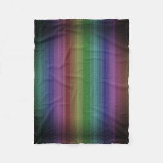 Cobertor De Velo Linha teste padrão da listra da rocha do arco-íris