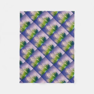 Cobertor De Velo Lírio da dança do vale no azul
