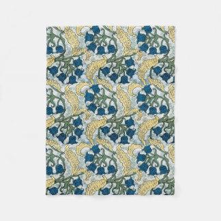 Cobertor De Velo Lírio das flores do azul do vale