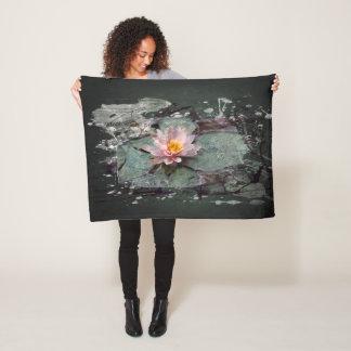 Cobertor De Velo Lírio de água, flores de Lotus na lagoa, pintura
