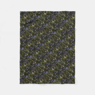 Cobertor De Velo Lírio do remendo da flor do vale com matiz azul