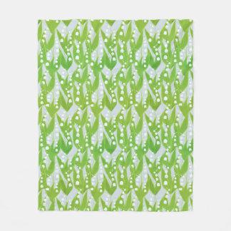 Cobertor De Velo Lírio do teste padrão floral do vale