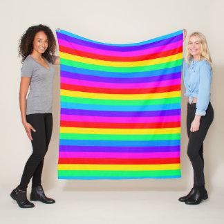Cobertor De Velo Listra brilhante do arco-íris