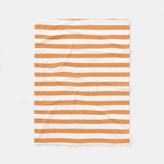 Cobertor De Velo Listra horizontal alaranjada e branca
