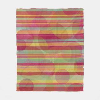 Cobertor De Velo Listras coloridos e círculos