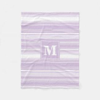 Cobertor De Velo Listras do roxo do cardo do monograma