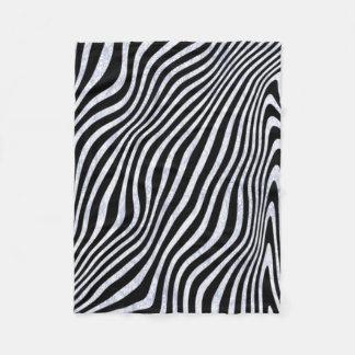 Cobertor De Velo Listras gelados da zebra