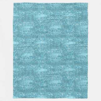 Cobertor De Velo Listras Glam do brilho do falso do Aqua