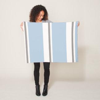Cobertor De Velo listras marrons azuis e pastel da luz -