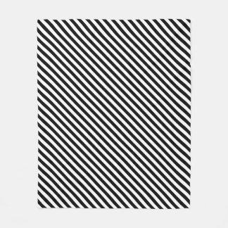 Cobertor De Velo Listras preto e branco