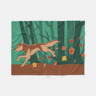 Cobertor De Velo Lobo do outono