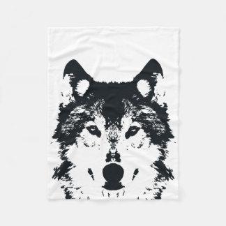 Cobertor De Velo Lobo preto da ilustração