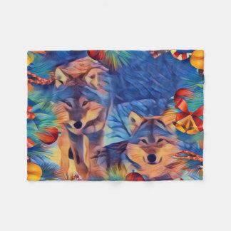 Cobertor De Velo Lobos do feriado