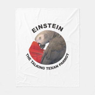 Cobertor De Velo Logotipo de Einstein o papagaio de fala do Texan