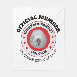 Cobertor De Velo Logotipo do clube de fãs do papagaio do cinza
