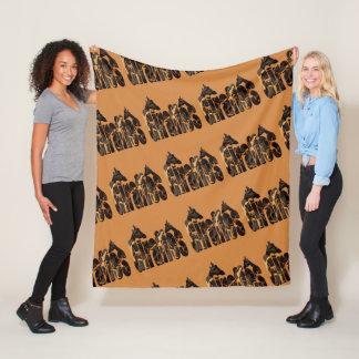 Cobertor De Velo Logotipo dos girafas e da imagem dos girafas, MED