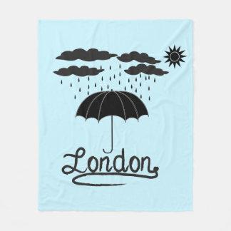 Cobertor De Velo Londres | sob um guarda-chuva