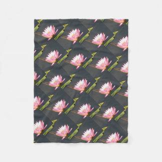 Cobertor De Velo Lotus cor-de-rosa Waterlily