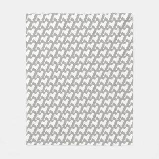 Cobertor De Velo Lowchen mostra em silhueta o teste padrão
