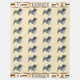Cobertor De Velo Lowchen, Tan sae com os dogbones e os pawprints