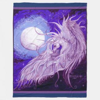 Cobertor De Velo Lua alinhada delicado do unicórnio obscura