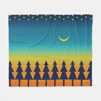 Cobertor De Velo Lua dos pinhos do por do sol do sudoeste