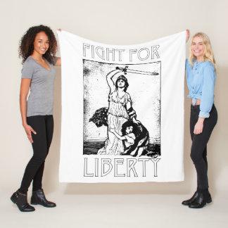 Cobertor De Velo Luta para a liberdade! Senhora Liberdade com