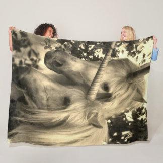 Cobertor De Velo Luxuoso branco clássico dos amantes dos unicórnios