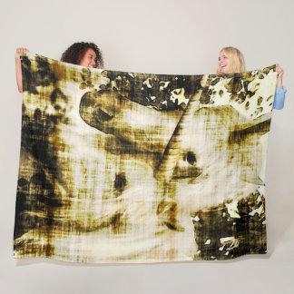 Cobertor De Velo Luxuoso desvanecido do Grunge do unicórnio