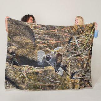 Cobertor De Velo Luxuoso do caçador do fanfarrão dos cervos de