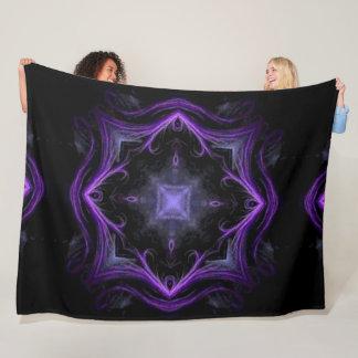 Cobertor De Velo Luxuoso escuro da mandala do Shaman de Lotus