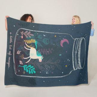 Cobertor De Velo Luxuoso mágico da fantasia do unicórnio