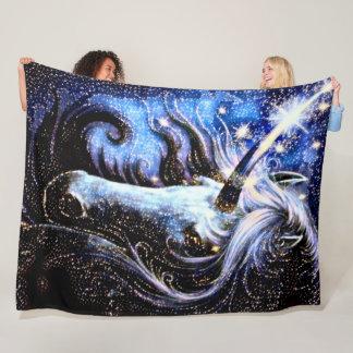 Cobertor De Velo Luxuoso mágico do unicórnio do espaço