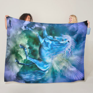 Cobertor De Velo Luxuoso majestoso do cavalo da fantasia de Pegasus