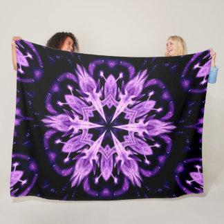Cobertor De Velo Luxuoso tribal roxo da roda da medicina do