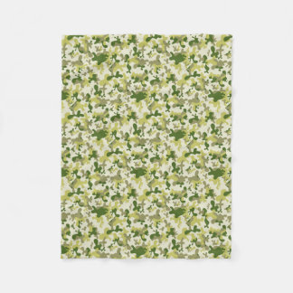 Cobertor De Velo Luz da camuflagem - design bege cinzento verde de