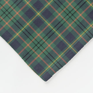 Cobertor De Velo Luz - Tartan do clã de Taylor do verde e dos azuis