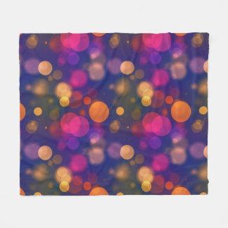 Cobertor De Velo Luzes coloridas vibrantes de Bokeh