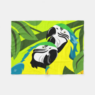 Cobertor De Velo Macaws azuis do ouro