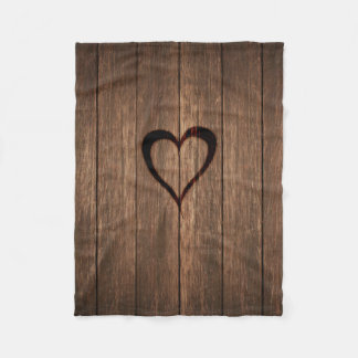 Cobertor De Velo Madeira rústica impressão queimado do coração